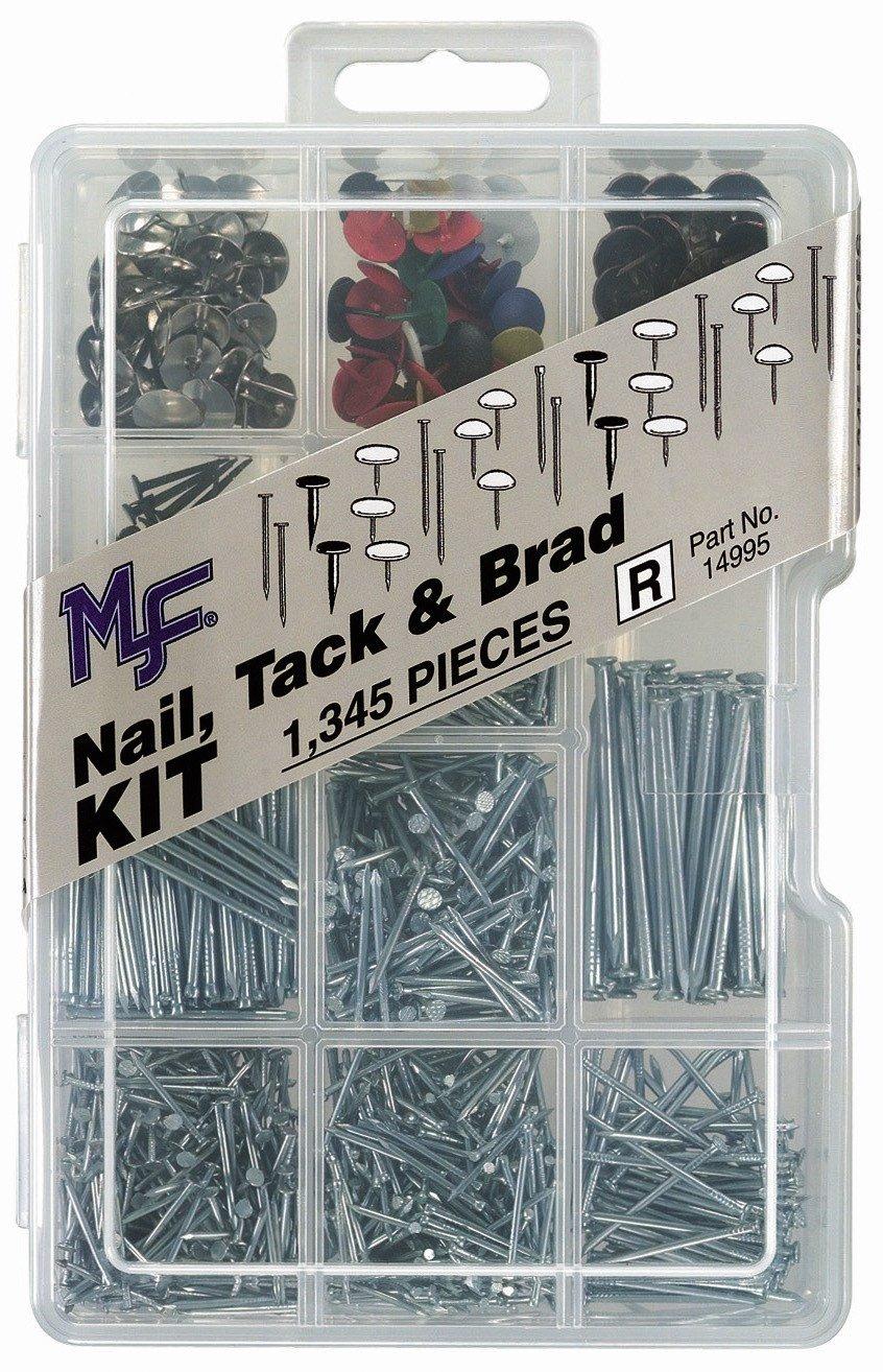 Midwest Fastener 14995 Corp Nail, Tack & Brad Assortment Kit