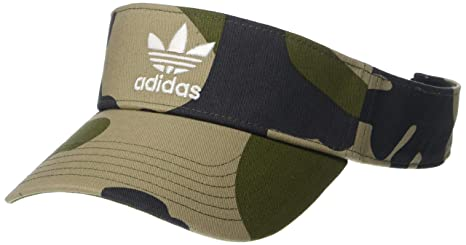 7eed24e7 adidas Men's Originals Twill Visor, Aop Camo Olive Cargo/White, One Size