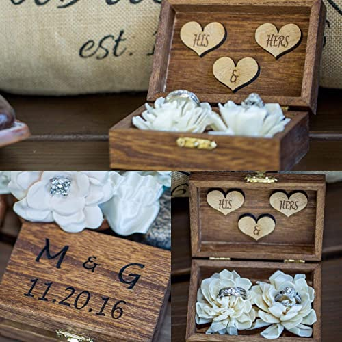 Amazon Com Rustic Wedding Sola Flower Ring Box Rustic Wedding
