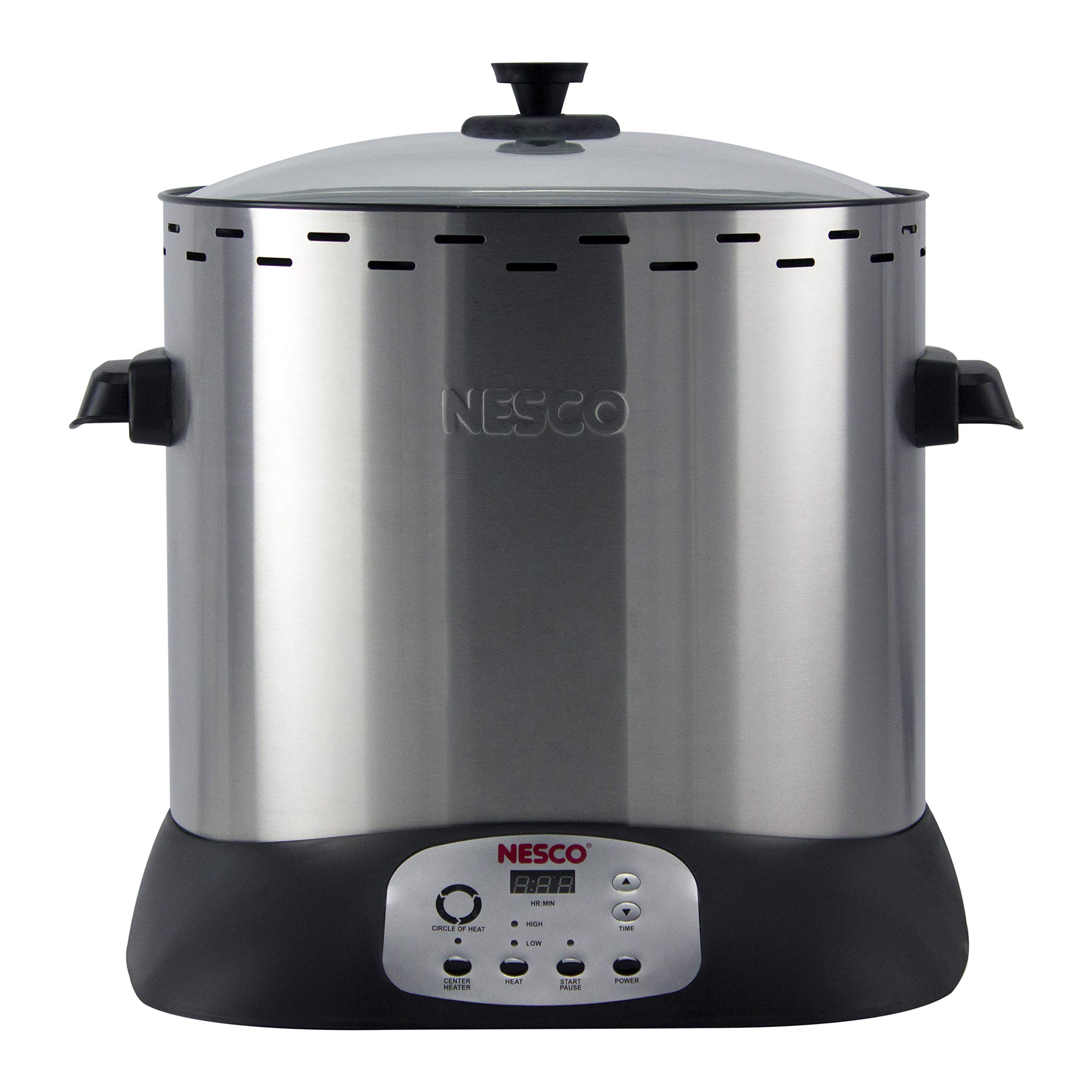 NESCO ITR-01 Digital Infrared Upright Turkey Roaster, Oil Free, 1420 Watts, Silver by NESCO