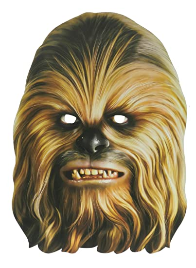 picture relating to Star Wars Mask Printable named Chewbacca Formal Star Wars Paper Cardboard Mask
