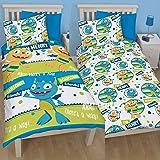 Henry Hugglemonster Roarsome Single Reversible Rotary Duvet Cover Bed Set New Gift (HHMR1)