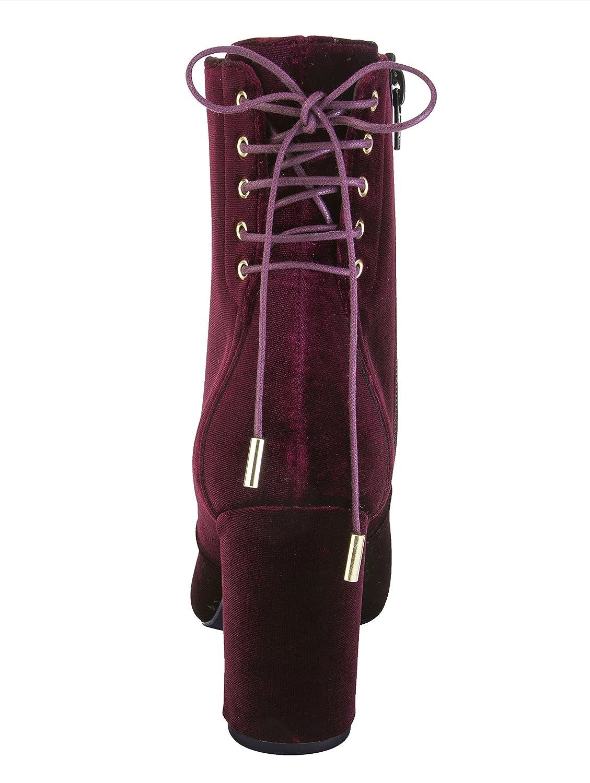 KLiNGEL Damen Stiefelette aus aus aus changierendem Samtmaterial 723a6d