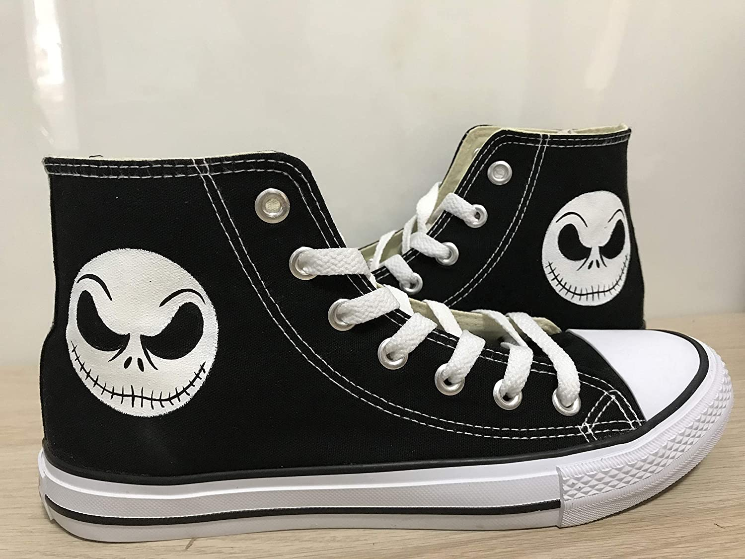 Nightmare Before Christmas High Top Sneakers For Women Hand Painted Shoes Custom Chuck Taylors Chuck Taylor High Top FREE SHPPING