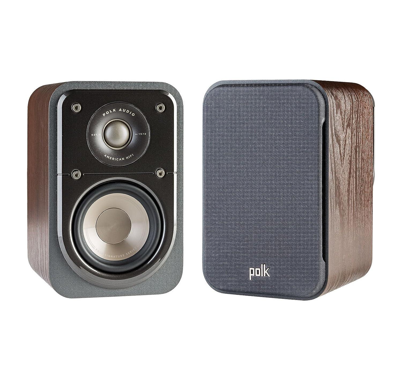 Polk Audio Signature S10 Walnut (pr) Surround Satellite Home Speaker, Set of 2, Washed Black Walnut Polk Canada