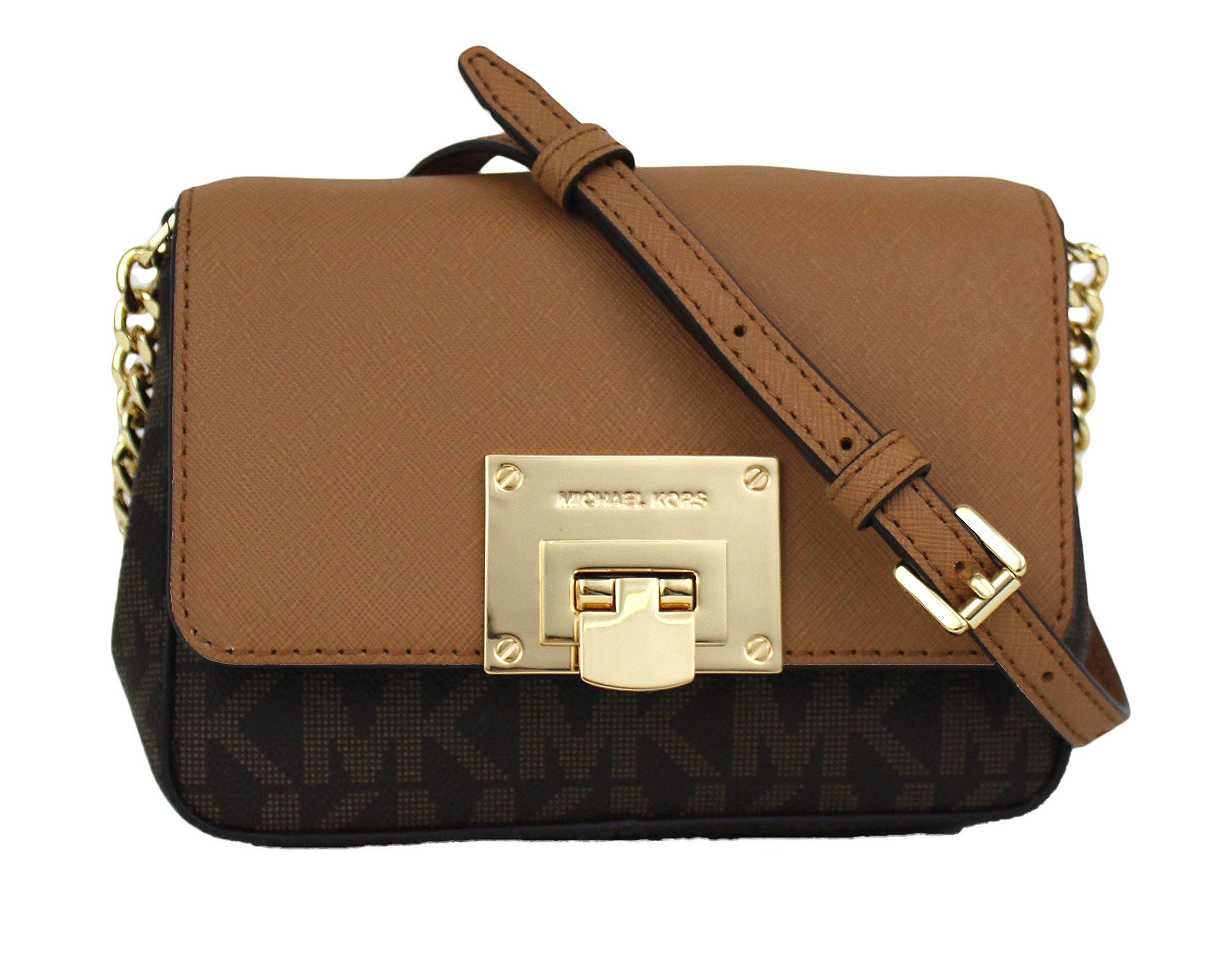 Michael Kors Tina Small Leather Clutch, Crossbody Shoulder Bag