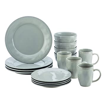 stoneware dinnerware sets clearance amazon ceramic made in usa ray piece set sea salt grey