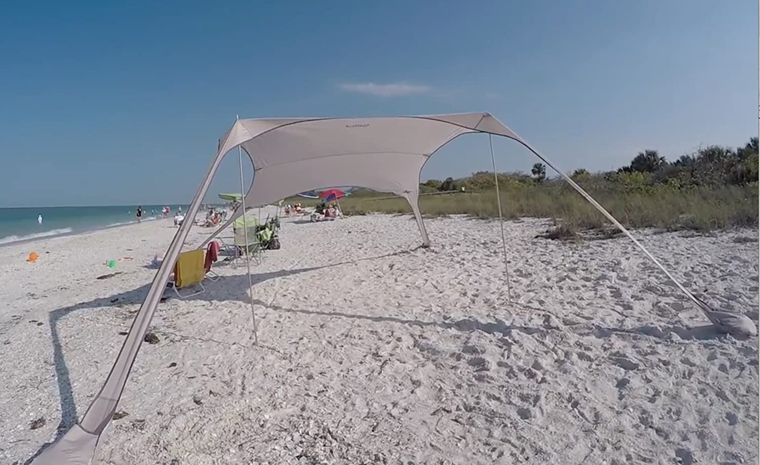 Amazon.com FUNS Portable Stakeless Windproof Beach Sunshade and Gazebo Tent - 10u0027 X 10u0027 - with Sand Anchors. Perfect Canopy Sun Shade Shelter Tarp for ... : beach gazebo tent - memphite.com
