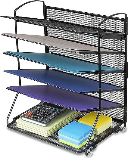 6 bandejas bandeja de documentos de escritorio organizador