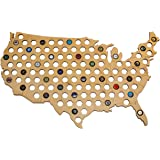 Giant USA Beer Cap Map - 3ft Wide - Craft Beer Bottle Caps Holder - Beer Gift Accessories for Men, Fathers, Brothers…