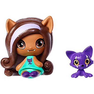 Monster High Minis Clawdeen Wolf& Crescent Figures: Toys & Games