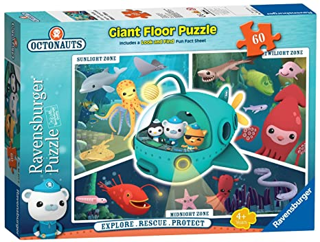 Amazon.com: Octonauts Giant Floor Puzzle with Look and Find Fun Fact ...