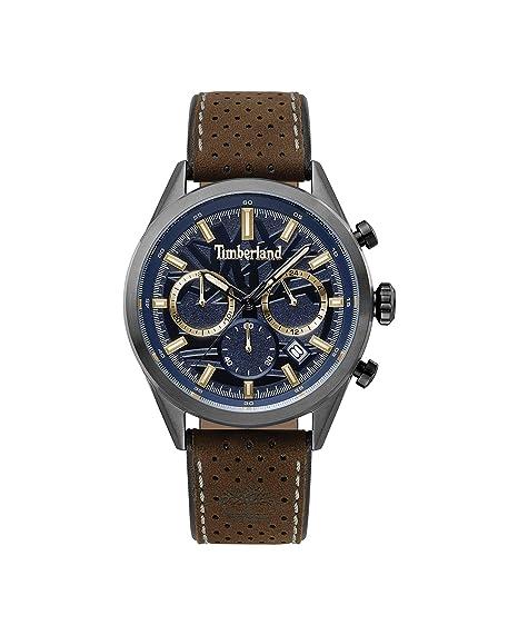 Timberland Reloj Cronógrafo para Hombre de Cuarzo con Correa en Cuero  TBL.15476JSU 03  Amazon.es  Relojes 38ada0ee2746