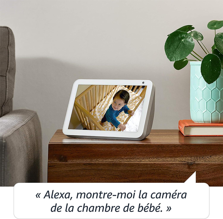 Tissu anthracite/+  Smart Plug Fonctionne avec Alexa Echo Show 8 Prise connect/ée WiFi