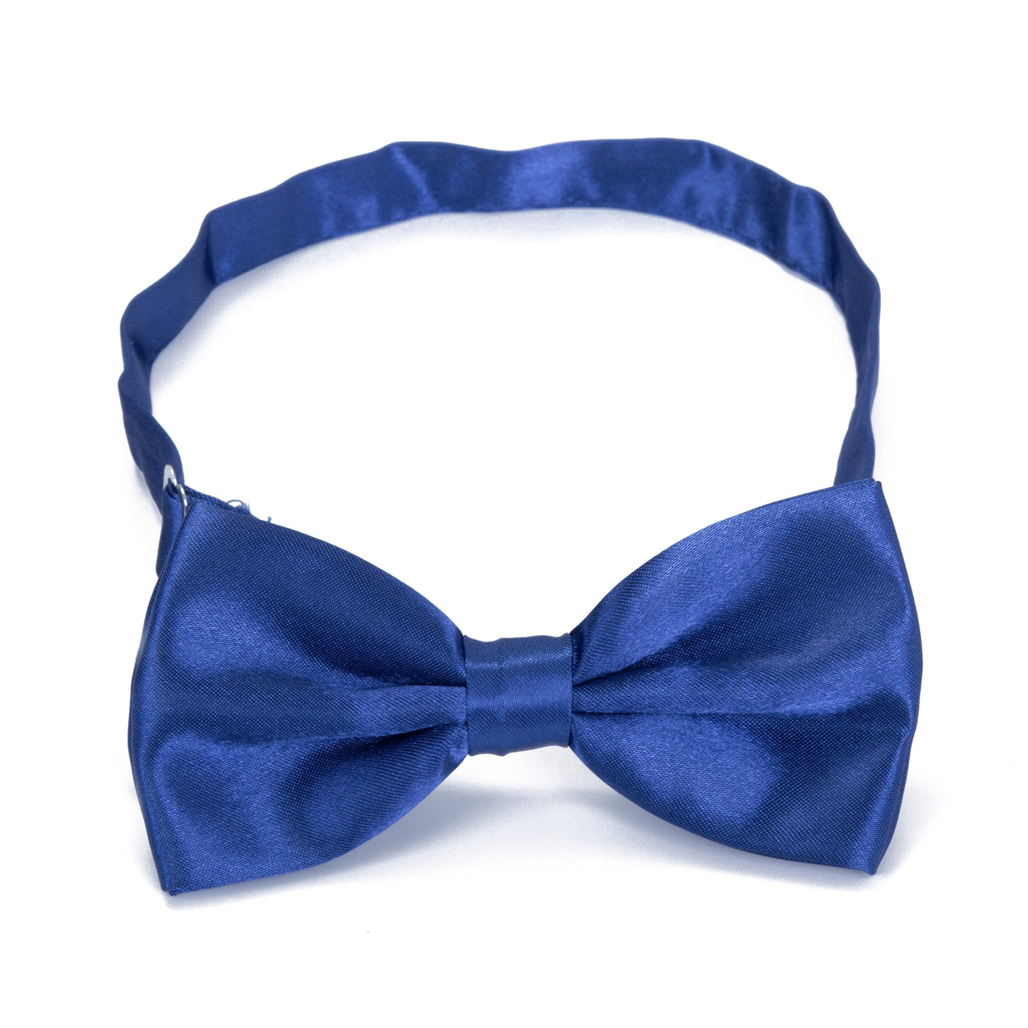 Boys Children Formal Bow Ties - 6 Pack of Solid Color Adjustable Pre Tied Bowties for Wedding Party (Royal Blue) by Kajeer (Image #3)