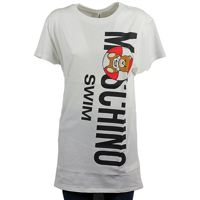 M Ropa Mujer Camiseta Para Amazon Moschino Bianco Accesorios Y es qxZRwn