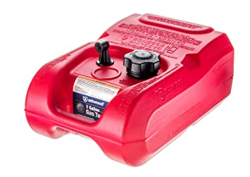 attwood 8803LP2 EPA and CARB Certified 3-Gallon Portable Marine Boat Fuel  Tank