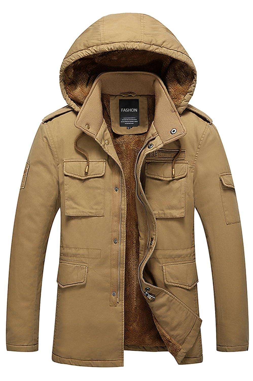 CUKKE Men's Down Coats Hooded Fleece Lined Winter Warm Outwear WUXI SHUAILANDE CK-CIX-937