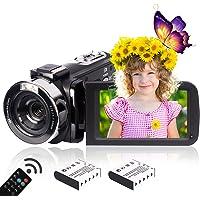 Heegomn 2.7K HD digitale camcorder voor jongeren/leerlingen/kinderen, 2688 x 1520P videocamera beginners voor YouTube…