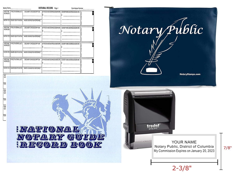 Notary Public Value Package ジャーナル、スタンプ、ネイビー サプライバッグ コロンビア地区   B07HPBQLZP