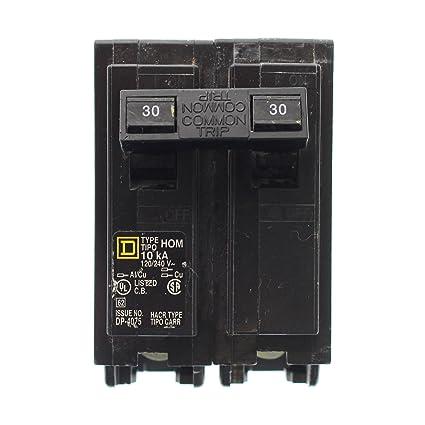 schneider electric 120/240-volt 30-amp hom230 miniature circuit breaker 120/240v  30a - - amazon com
