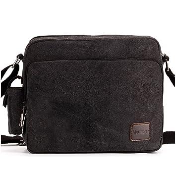 Amazon.com: MeCool Men's Canvas Weekender Messenger Bag for Travel ...