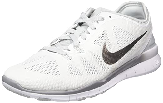 Nike Women's Free 5.0 Tr Fit 5 White/Metallic Silver/Pr Pltnm Training Shoe