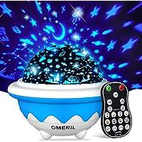 OMERIL Lámpara Proyector Infantil, Luz Estrellas para Niños con 8 Modos, Proyector Estrellas con 3 Películas de…