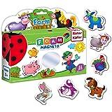 Roter Kafer - Imanes nevera para niños Animales Granja 31 imanes niños - Niños 2 años - Juguetes niños 2 años - Animales para niños - Juguetes bebe - Juguetes para niñas - Imanes
