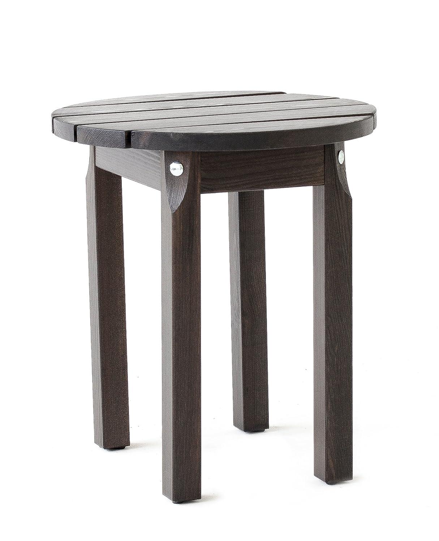 Ton Marron 48x48x53 cm 48 cm /Ø ca en pin Massif Ambientehome Table de Jardin Ronde Adirondack Ottawa