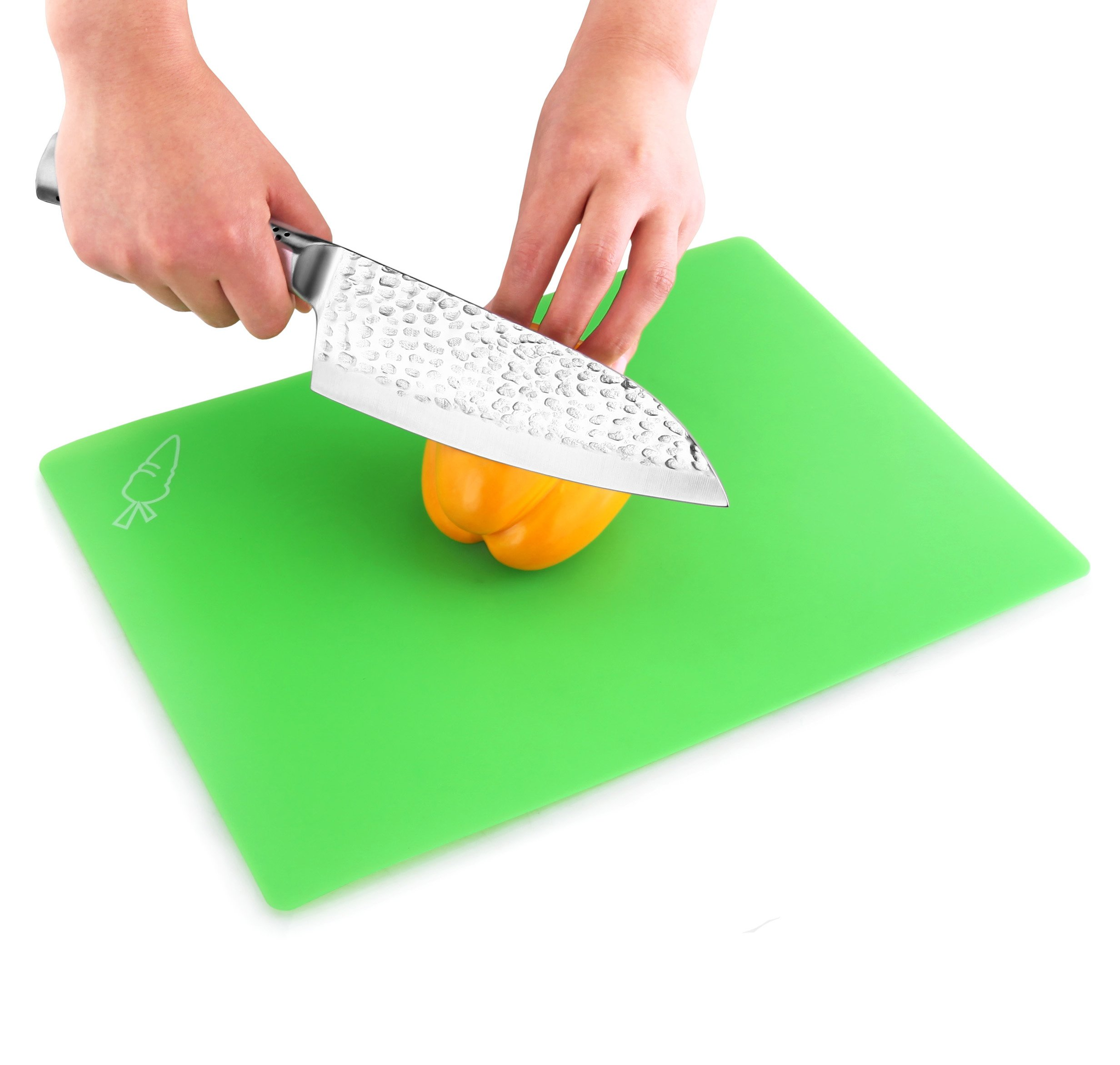 New Star Foodservice 28690 Flexible Cutting Board, 9.5-Inch by 14-Inch, Assorted Colors, Set of 3 by New Star Foodservice (Image #5)