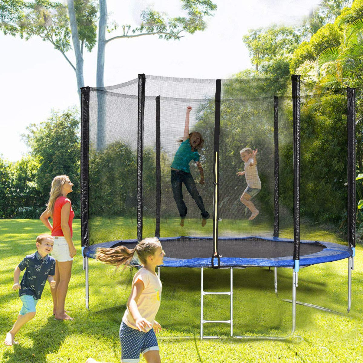 Giantex Trampoline Combo Bounce Jump Safety Enclosure Net W/Spring Pad Ladder (10 FT) by Giantex (Image #2)