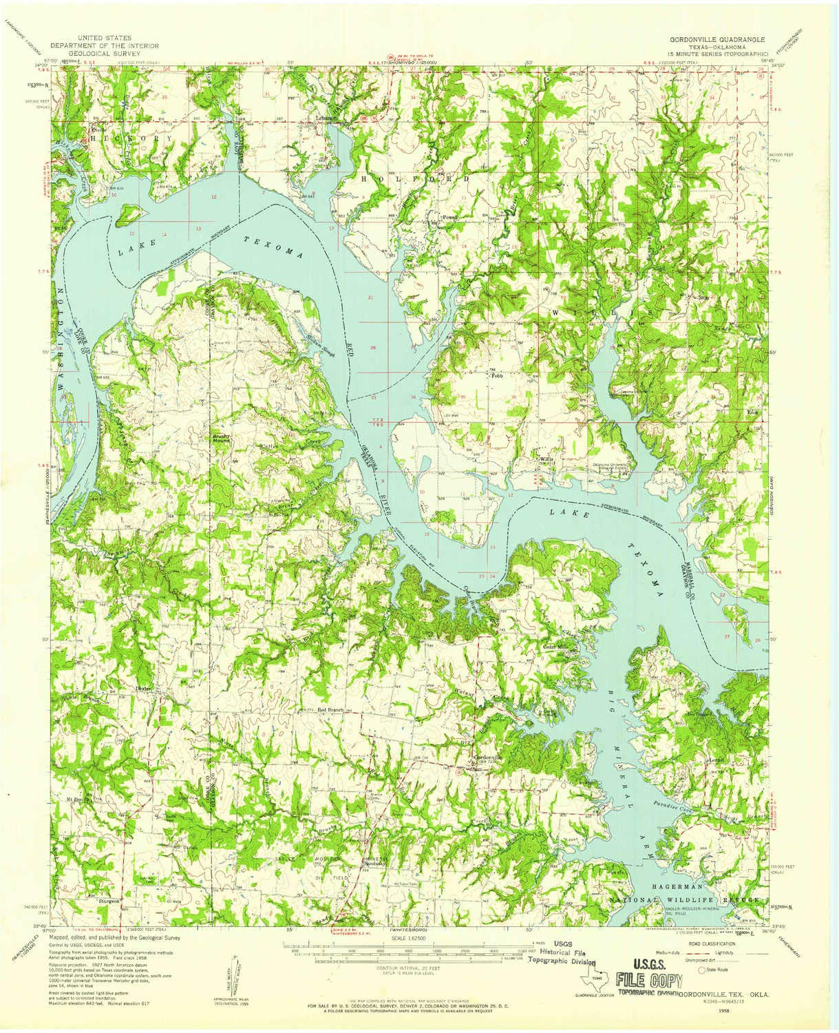 Amazon.com : YellowMaps Gordonville TX topo map, 1:62500 Scale, 15 X 15 Minute, Historical, 1958, Updated 1959, 21 x 17 in - Polypropylene : Sports & ...