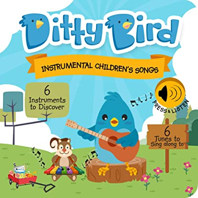 DITTY BIRD Baby Sound Book: Our Instrumental Children's Songs Musical Book for Babies is The Perfect Toys for 1 Year Old boy and 1 Year Old Girl Gifts. Educational Toy for Toddlers. Award-Winning!: Toys & Games