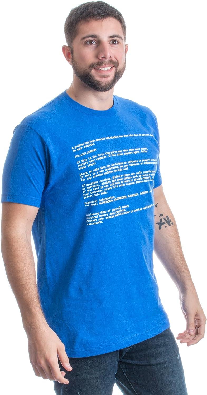 Blue Screen of Death Geeky Windows Error Funny Computer Nerd Unisex T-Shirt