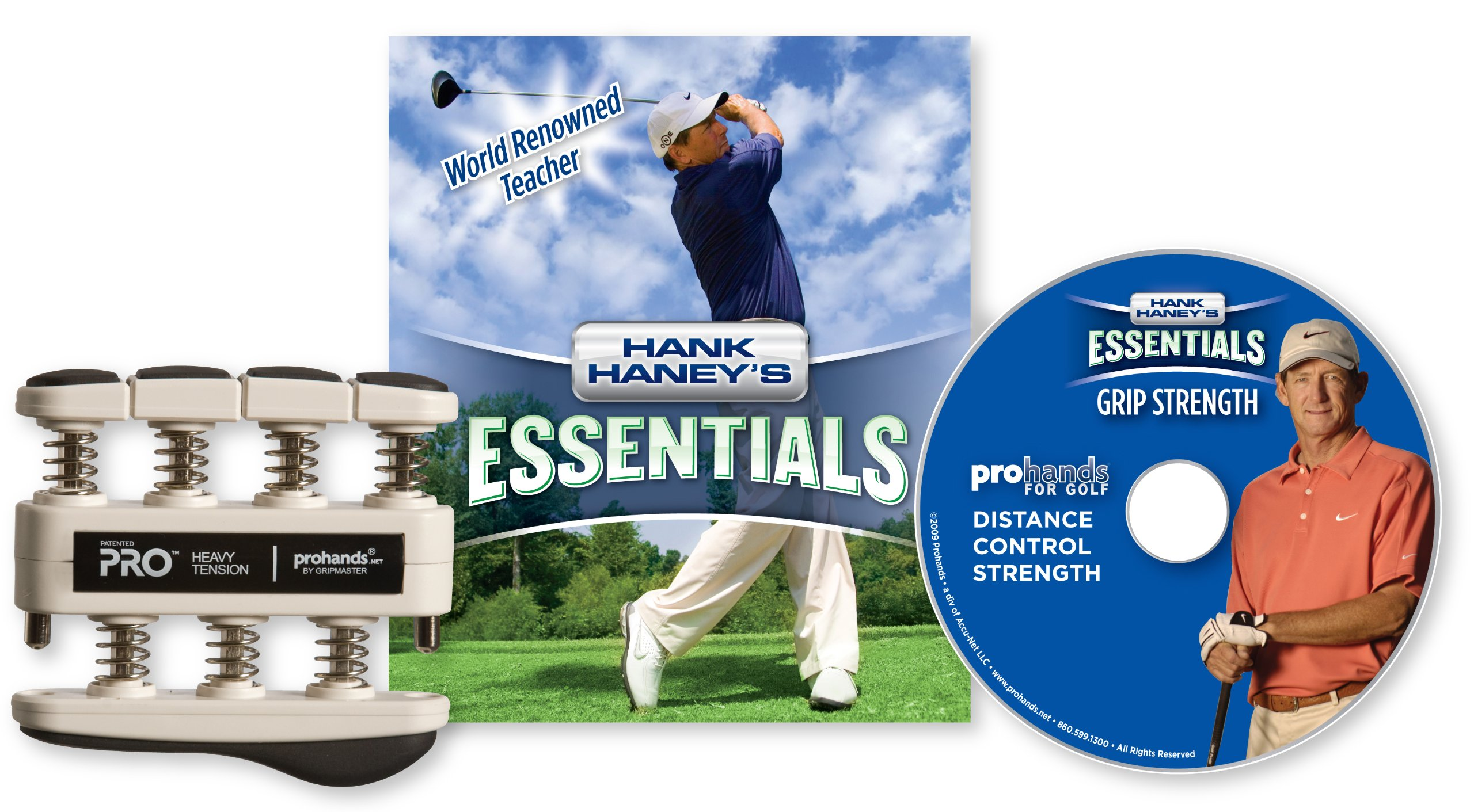 Hank Haney's Essentials Grip Strength DVD and Exerciser, Heavy Tension (9-Pounds per Finger) by Prohands
