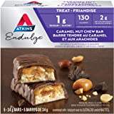 Atkins Endulge Bars - Caramel Nut Chew, 1g Sugar, Keto-Friendly, High Fibre - 5-Count