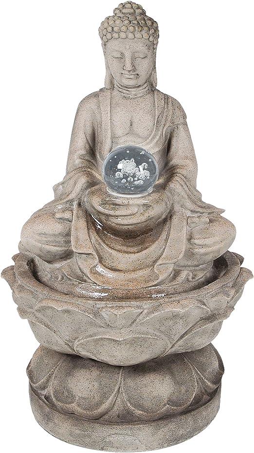 Función de agua para jardín de Buda tamaño mediano: Amazon.es: Jardín