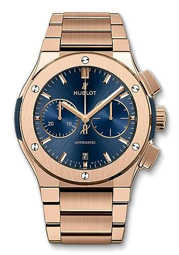 Hublot Classic Fusion - Reloj de pulsera para hombre, 45 mm, esfera de oro rosa y azul: Amazon.es: Relojes