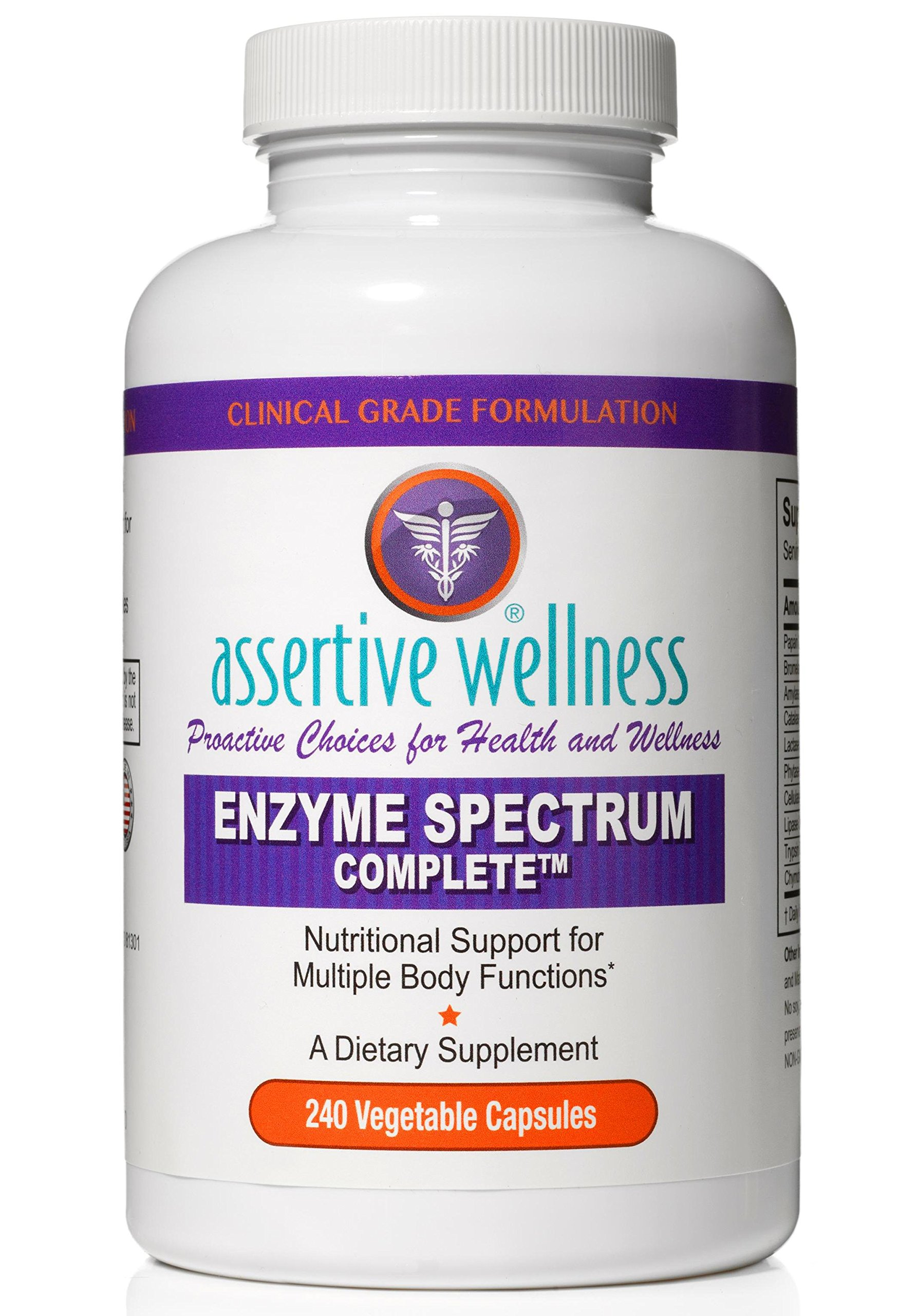 Digestive Enzymes Alone are Not Enough - Enzyme Spectrum Complete Simultaneously Promotes Healthy Digestion, Enhances Nutrient Absorption, Reduces Inflammation & Neutralizes Phytic Acid in Your Diet by Assertive Wellness