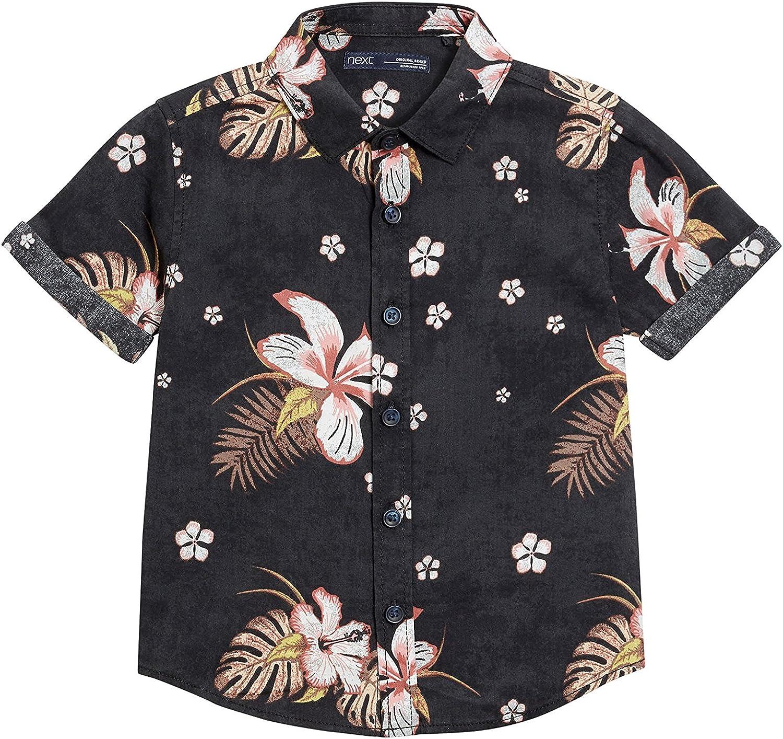 next Niños Camisa Manga Corta Estampado Flores (3 Meses-16 Años) Estándar: Amazon.es: Ropa y accesorios