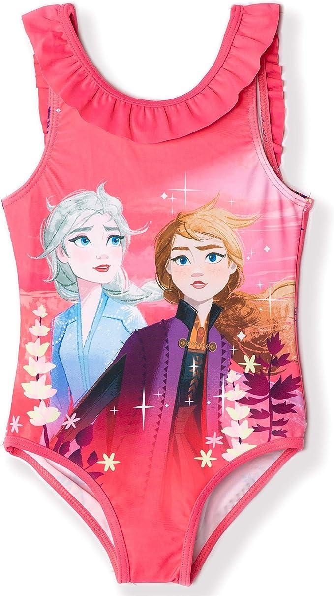 Costume da bagno ufficiale da bambina motivo: Elsa /& Anna 8 anni Disney Frozen 2 3