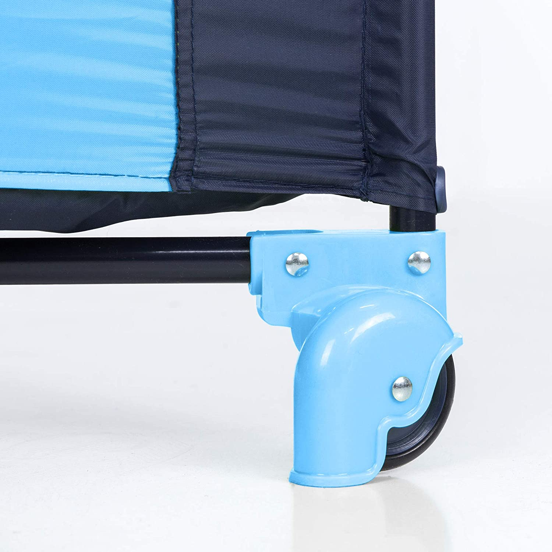 Matelas pliant de la naissance /à 15 kg Moolino Fun Lit de voyage 125 x 70 cm Multicolore sac de transport et ouverture lat/érale