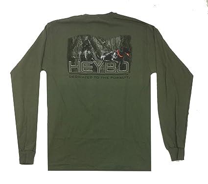 1ddb2151 Heybo Spook Black Lab Long Sleeve T-Shirt-Military-Large | Amazon.com