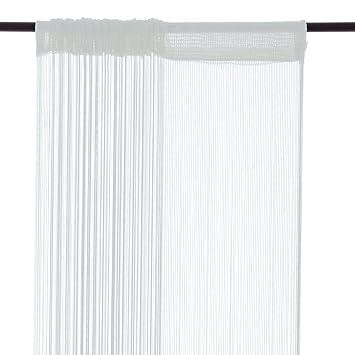 Amazonde Smartfox Fadenvorhang 100 X 250 Cm In Weiß Fadengardine