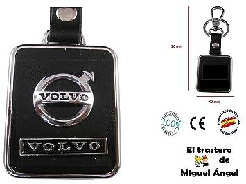 Llavero cuero y metal Volvo