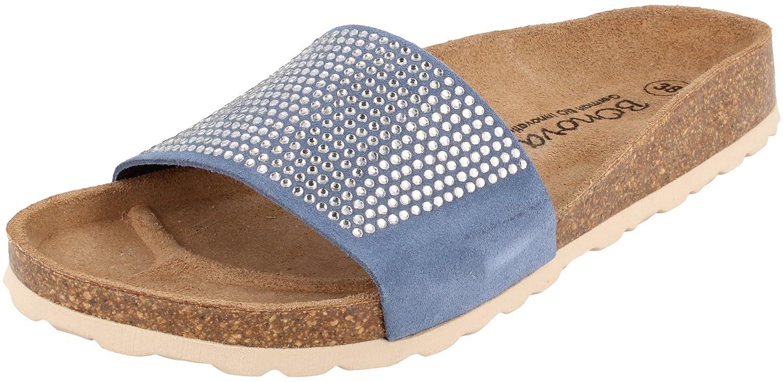 BONOVA - Zuecos para mujer Azul azul 37 EU