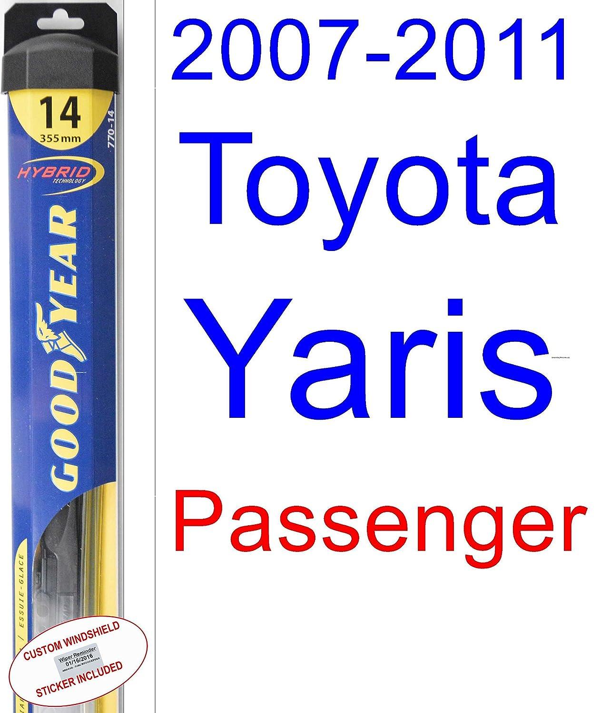 2007 - 2011 Toyota Yaris hoja de limpiaparabrisas de repuesto Set ...