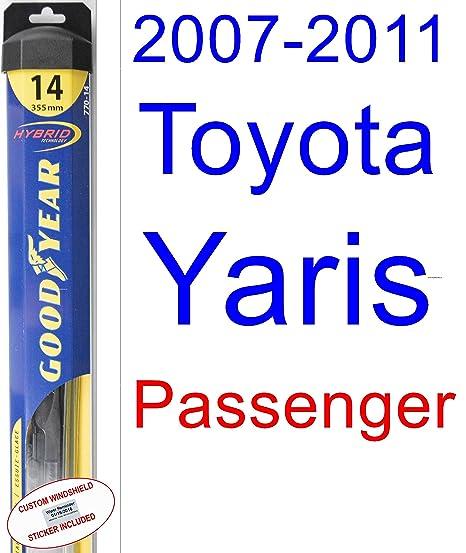 2007 – 2011 Toyota Yaris hoja de limpiaparabrisas de repuesto Set/Kit (Goodyear limpiaparabrisas