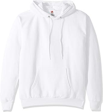 White M Hanes Crewneck Sweatshirt